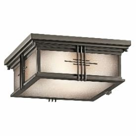 Kichler Lighting 49164OZ Portman - Two Light Outdoor Flush Mount