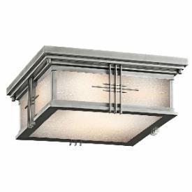 Kichler Lighting 49164SS Portman - Two Light Outdoor Flush Mount