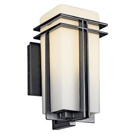 Kichler Lighting 49200BKFL Tremillo - One Light Outdoor Wall Mount