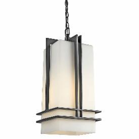 Kichler Lighting 49205BK Tremillo - One Light Outdoor Pendant