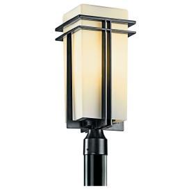 Kichler Lighting 49207BK Tremillo - One Light Outdoor Post Mount