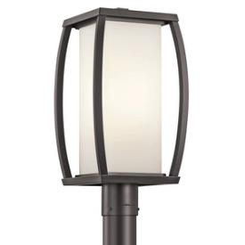 Kichler Lighting 49342AZ Bowen - One Light Outdoor Post Mount