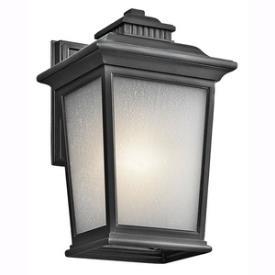 Kichler Lighting 49439BK Weatherly - One Light Medium Outdoor Wall Mount