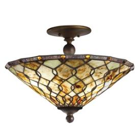 Kichler Lighting 65372 Woodbury - Three Light Semi-Flush Mount