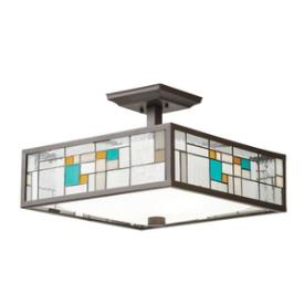 Kichler Lighting 65393 Caywood - Three Light Convertible Semi-Flush Mount