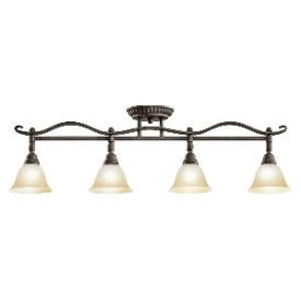 Kichler Lighting 7744DBK Pomeroy - Four Light Fixed Rail