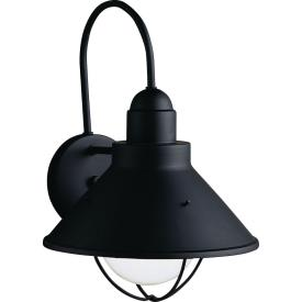 Kichler Lighting 9023BK One Light Outdoor Wall Mount