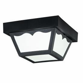 Kichler Lighting 9320BK One Light Outdoor Flush Mount