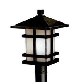 Kichler Lighting 9529AGZ Cross Creek - One Light Post Mount