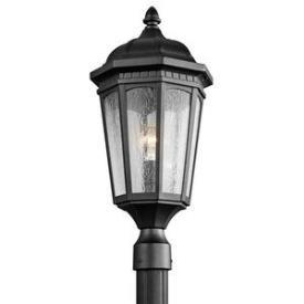 Kichler Lighting 9532BKT Courtyard - One Light Post