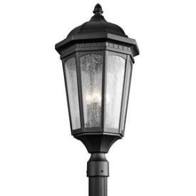 Kichler Lighting 9533BKT Courtyard - Three Light Post