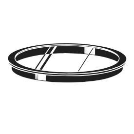 """Kichler Lighting 9536BK Accessory - 6"""" Lens"""
