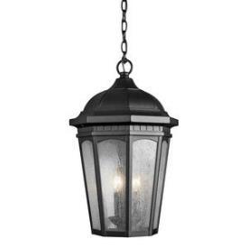 Kichler Lighting 9539BKT Courtyard - Three Light Outdoor Hanging Pendant