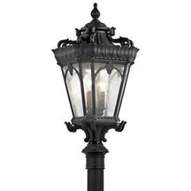 Kichler Lighting 9559BKT Tournai - Four Light Post