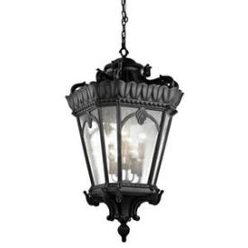 Kichler Lighting 9568BKT Tournai - Eight Light Outdoor Hanging Pendant