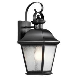 Kichler Lighting 9708BK Mount Vernon - One Light Medium Outdoor Wall Lantern