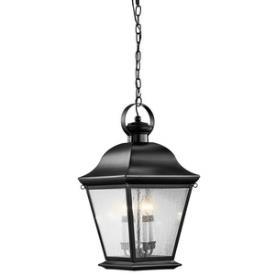 Kichler Lighting 9804BK Mount Vernon - Four Light Outdoor Hanging Pendant