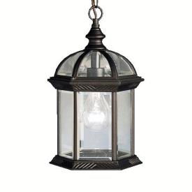 Kichler Lighting 9835BK New Street - One Light Outdoor Pendant