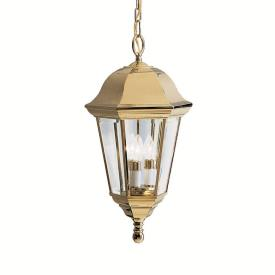 Kichler Lighting 9889PB Life Brite - Three Light Outdoor Pendant