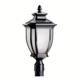 Kichler Lighting 9938BK Salisbury - One Light Outdoor Post Mount