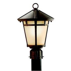 Kichler Lighting 9955AGZ Melbern - One Light Outdoor Post Mount