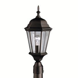 Kichler Lighting 9956BK Madison - One Light Outdoor Post Mount