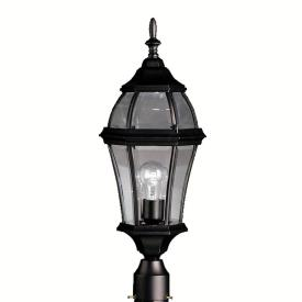 Kichler Lighting 9992BK Townhouse - One Light Post Mount