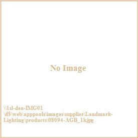 Landmark Lighting 08094-AGB Restoration 3 light Semi-flush