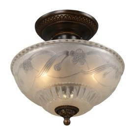 Landmark Lighting 08098-AGB Restoration 3 light Semi-flush