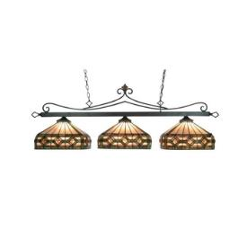 Landmark Lighting 190-11-TB-T8 Designer Classics - Three Light Island