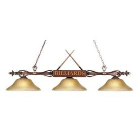 Landmark Lighting 194-WD-G6 Designer Classics 3 light Billiard/Island