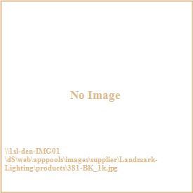 Landmark Lighting 381-BK Rustica - One Light Outdoor Wall Sconce