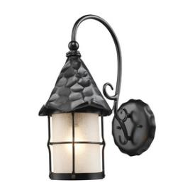 Landmark Lighting 385-BK Rustica - One Light Outdoor Wall Sconce