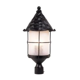 Landmark Lighting 389-BK Rustica - Three Light Outdoor Post Lantern