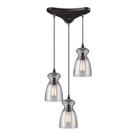 Landmark Lighting 60043-3 Menlow Park - Three Light Pendant