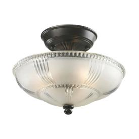 Landmark Lighting 66335-3 Restoration - Three Light Semi-Flush Mount