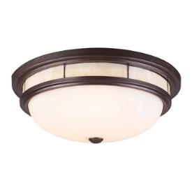 Landmark Lighting 70014-3 Three Light Flush Mount