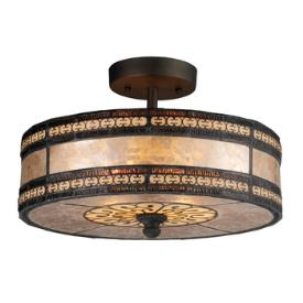 Landmark Lighting 70065-2 Mica Filigree - Two Light Semi-Flush Mount