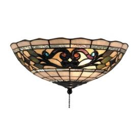 Landmark Lighting 990-D Tiffany Buckingham - Two Light Flush Mount