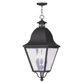 Livex Lighting 2547-07 Amwell - Four Light Outdoor Chain Hanging Lantern