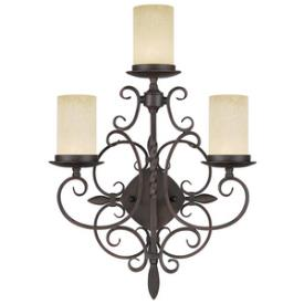 Livex Lighting 5482-58 Millburn Manor - Three Light Wall Sconce