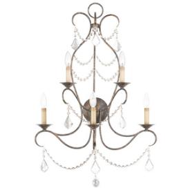 Livex Lighting 6445-71 Chesterfield - Five Light Wall Sconce