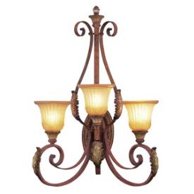 Livex Lighting 8585-63 Villa Verona - Three Light Wall Sconce