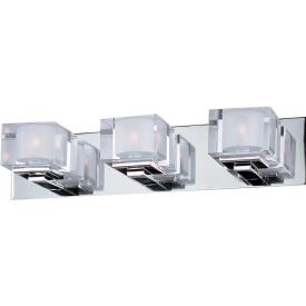 Maxim Lighting 10003CLPC Cubic - Three Light Bath Vanity