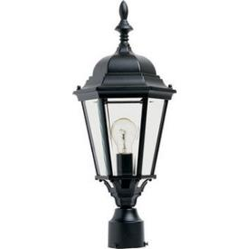 Maxim Lighting 1005BK Westlake - One Light Outdoor Pole/Post Lantern
