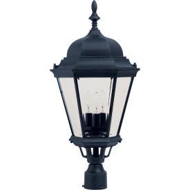 Maxim Lighting 1007BK Westlake - Three Light Outdoor Pole/Post Lantern