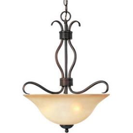Maxim Lighting 10121WSOI Basix - Three Light Inverted Bowl Pendant