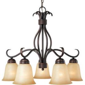 Maxim Lighting 10124 Basix 5 Light Chandelier Down