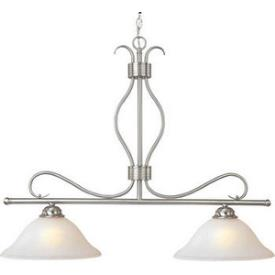 Maxim Lighting 10126ICSN Basix - Two Light Island Pendant