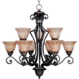 Maxim Lighting 11245SAOI Symphony - Nine Light Chandelier